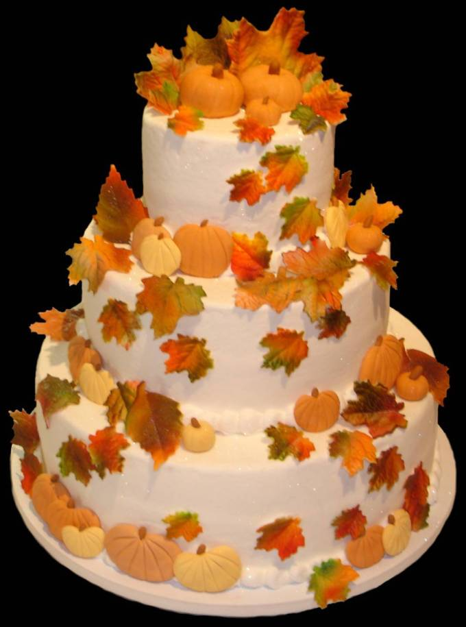 Cake Decorating Leaves : Autumn Wedding Edibles   Weddibles by Wed-Central