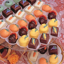 Harvest Petit Fours Wedding Favors