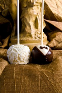 bride groom brownie pop