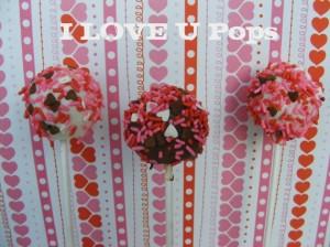 valentines day cake pops cake balls lollipops sprinkles